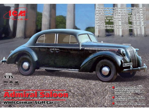 1/35 Opel Admiral Saloon. Coche Militar Alemán WWII
