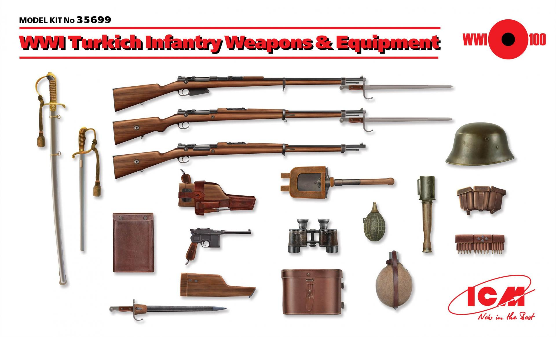 1/35 WWI Turkish Infantry Weapons & Equipment