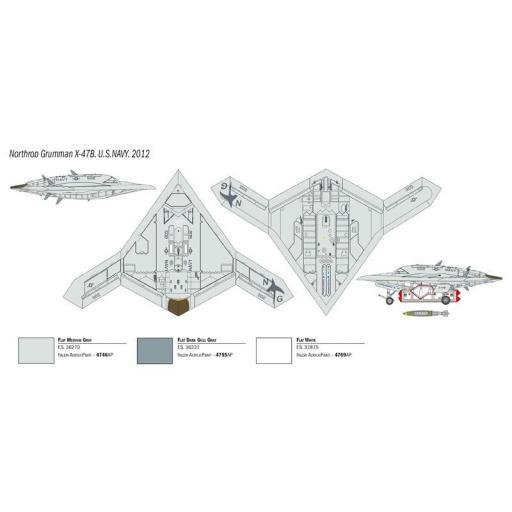 1/72 X-47B UCAS - Avión No Tripulado [2]