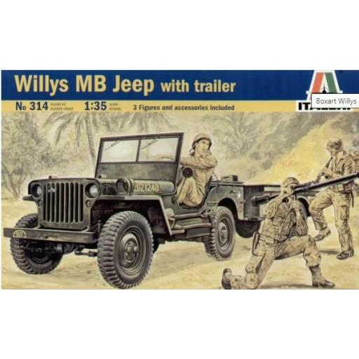 1/35 Willys MB Jeep with Trailer