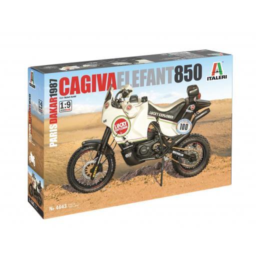 1/9 Cagiva Elephant 850 - Paris-Dakar 1987