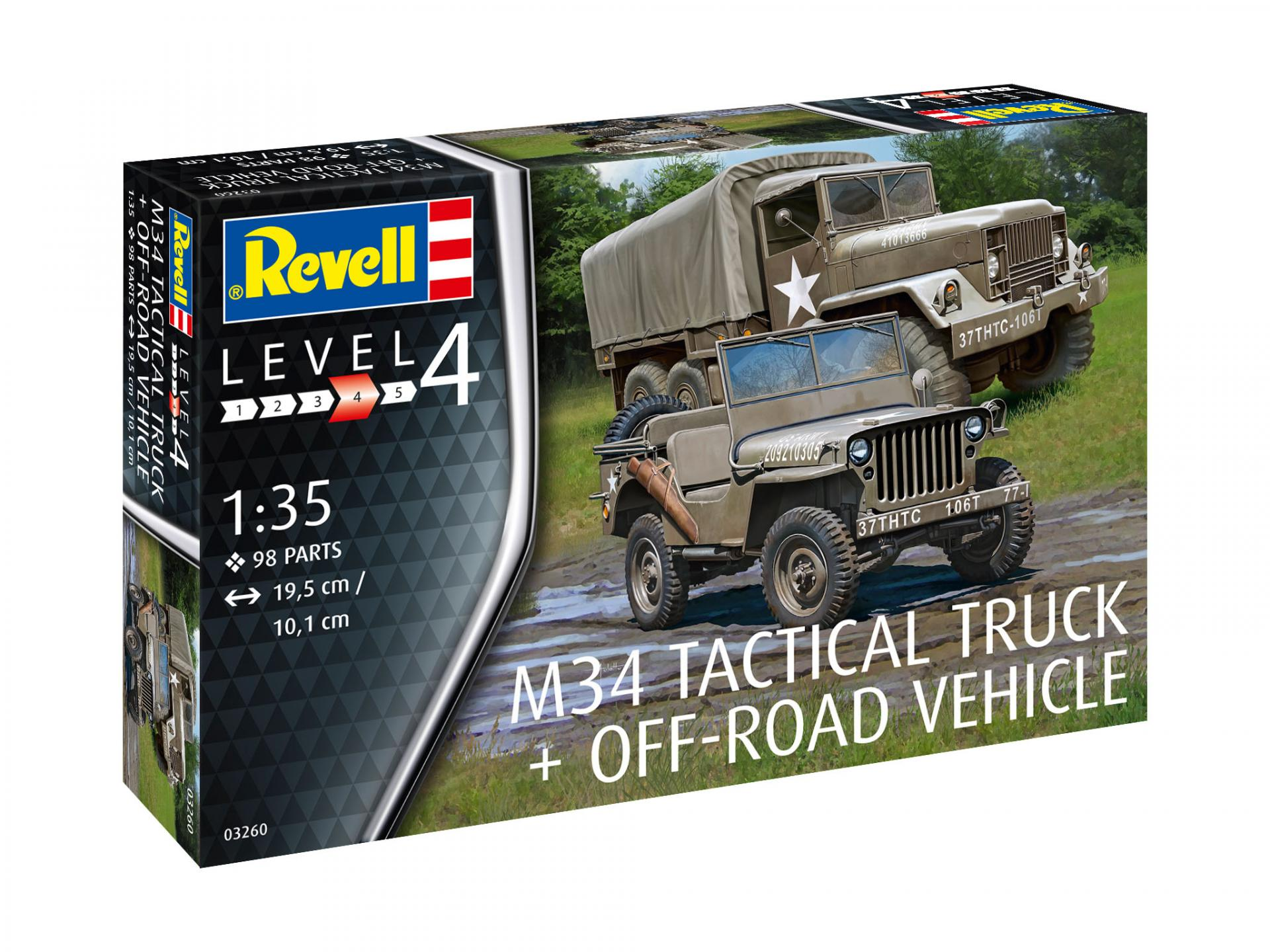 1/35 M34 Tactical Truck & Off Road Vehicle