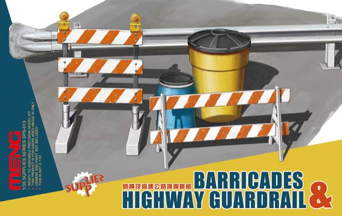 1/35 Barricades & Highway Guardrail