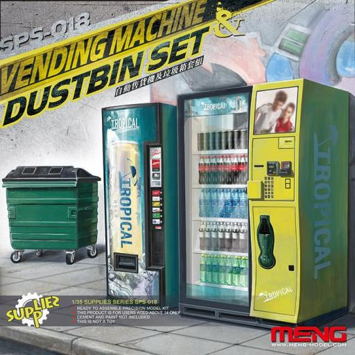 1/35 Vending Machine Dumpster Set