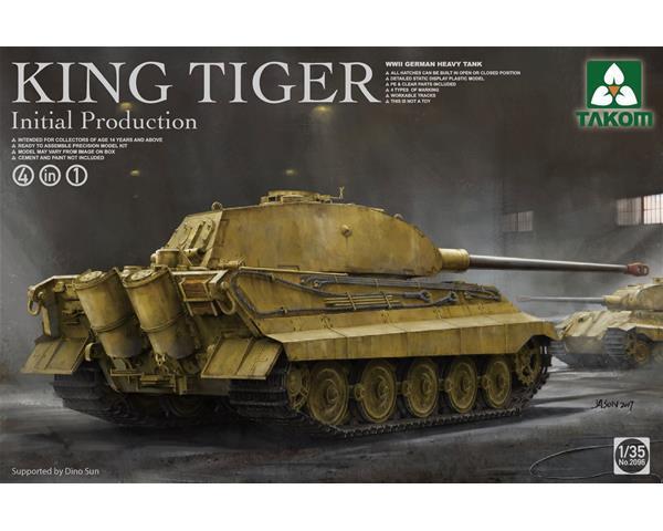 1/35 WWII German Heavy Tank King Tiger Inital production