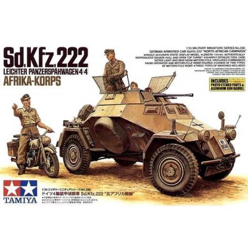 1/35 German Sd.Kfz.222 Leichter Panzerspahwagen (4x4) Afrika Korps