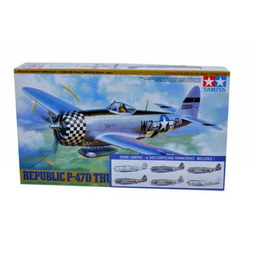 1/48 Republic P-47D Thunderbolt Bubbletop calcas francesas