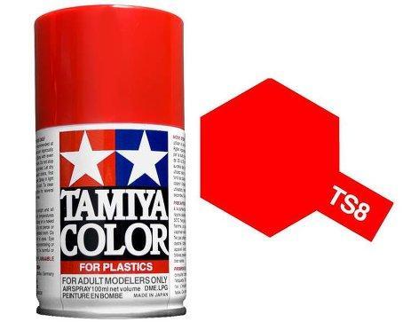 Spray Pintura Esmalte TS-8, Rojo Italiano