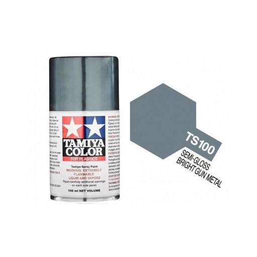 Spray Paint TS-100 Semi Gloss Bright Gun Metal
