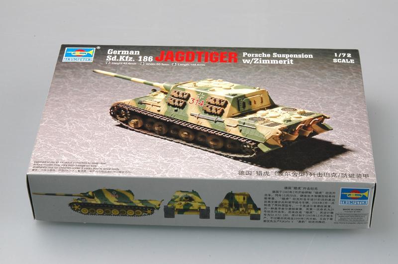 1/72 Sd.Kfz 186 Jagdtiger (Suspension Porsche) c/ Zimmerit