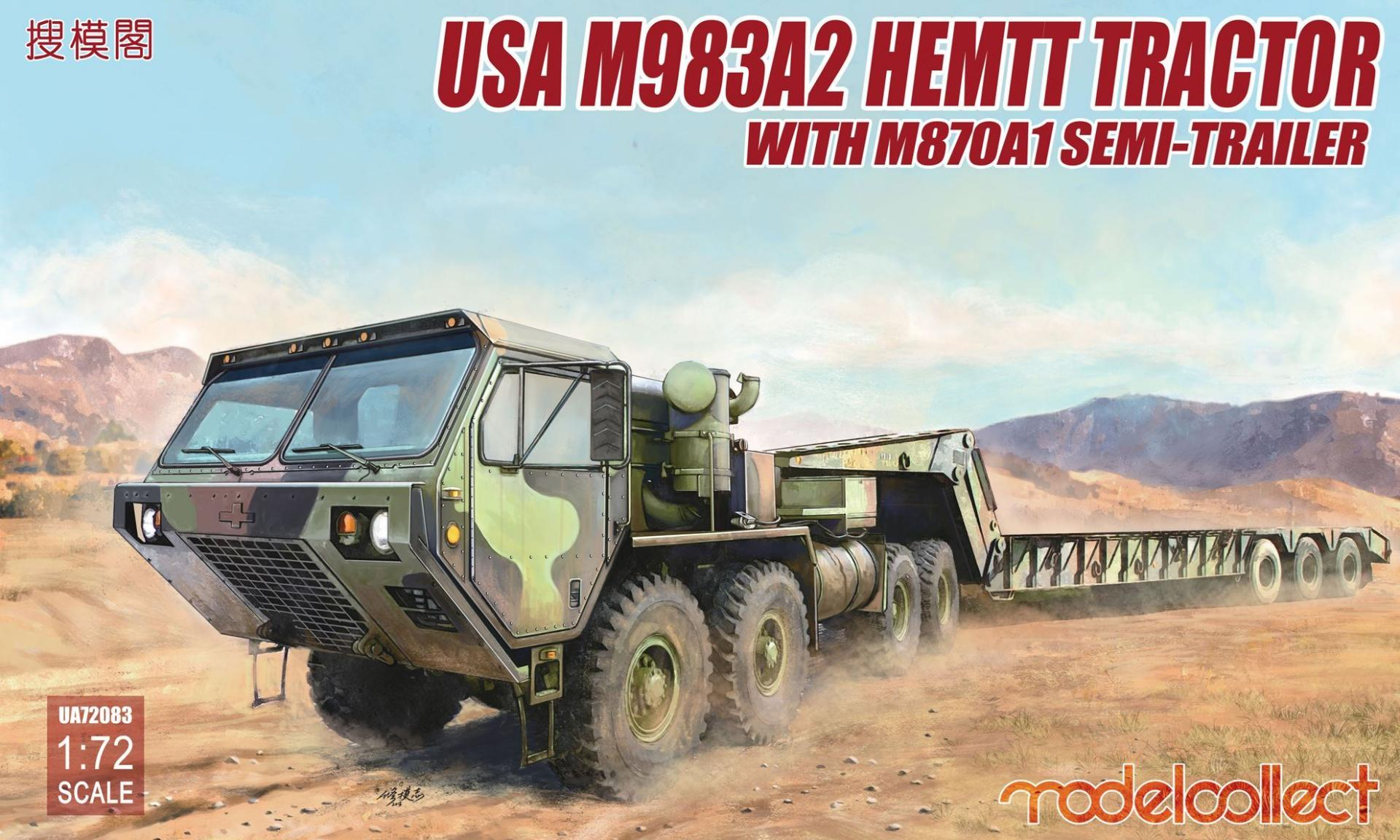 1/72 USA M983A2 HEMTT Tractor with M870A1 Semi-Trailer