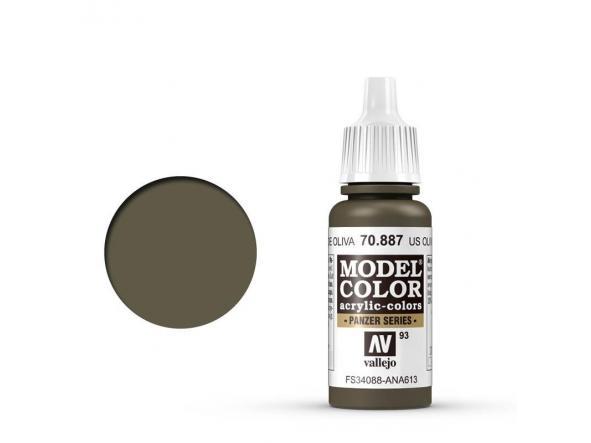 Modelcolor 70.887 US Verde Oliva - US Olive Drab