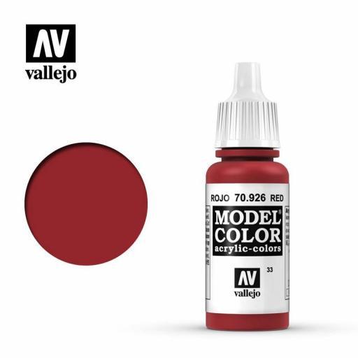 Model Color 70.926  Rojo 17ml