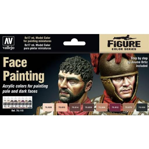 Set de pinturas  Caras Vallejo - Face Painting Set