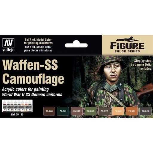 Set de Pinturas Waffen SS Camouflage 8ud