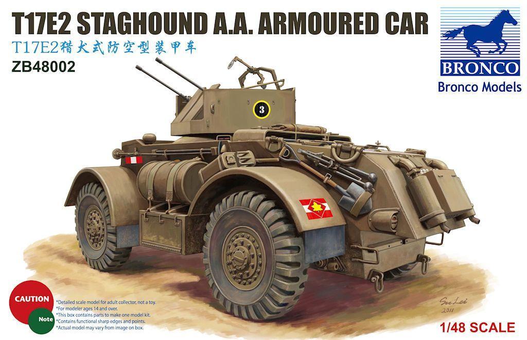 1/48 Vehiculo armado ligero T17E2 Staghound A.A.