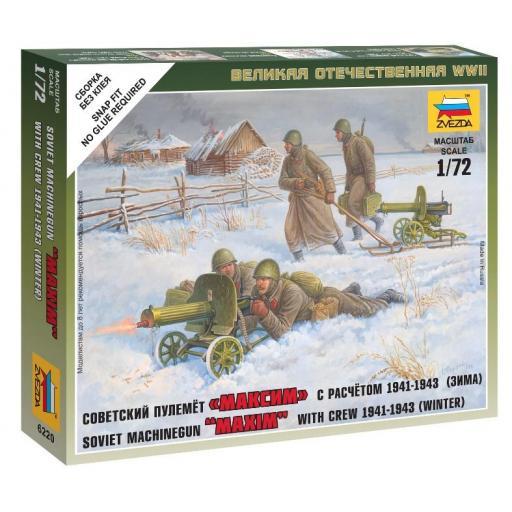 1/72 Soldados Soviéticos con ametralladora Maxim, Invierno 1943