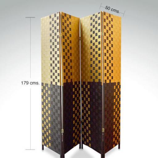 Biombo pleglable divisor de espacios [1]