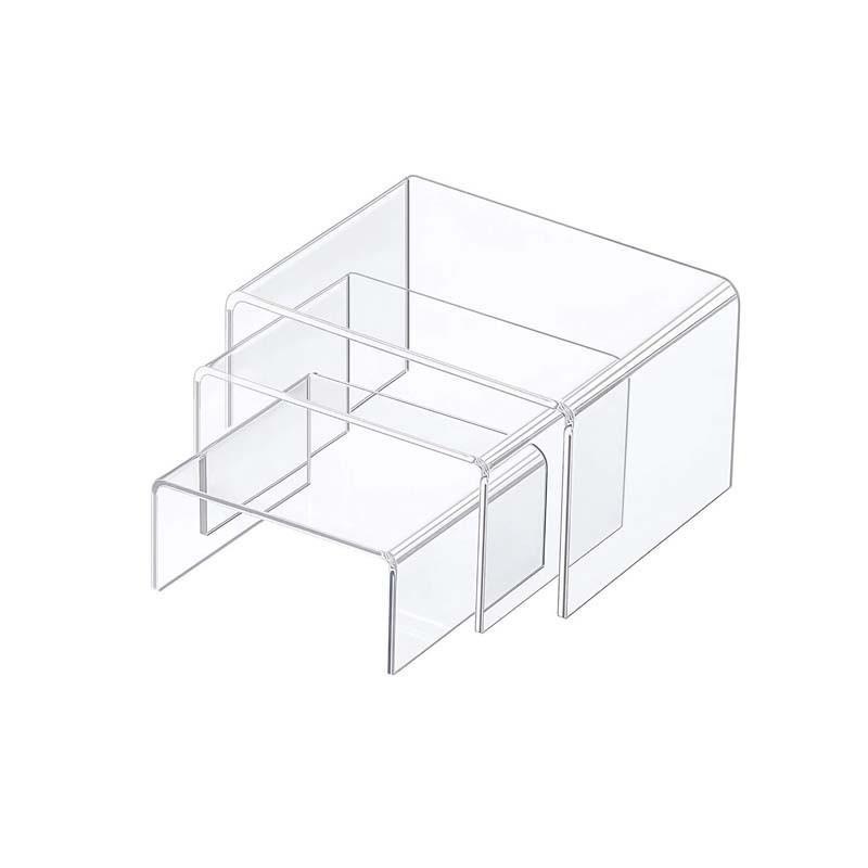 Juego 3 soportes acrílicos transparentes