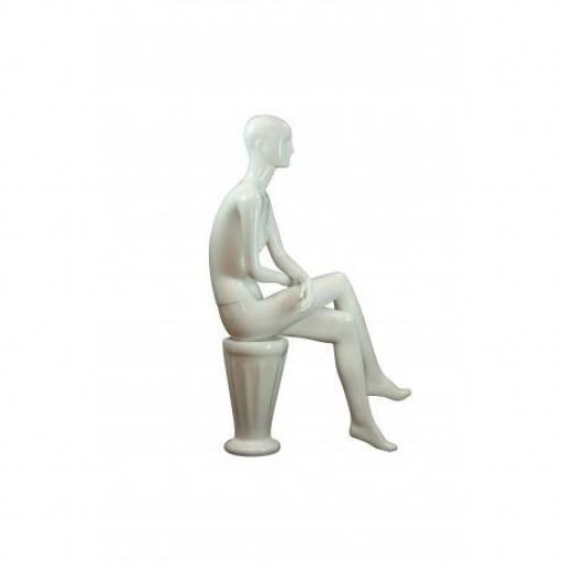 Maniquí de mujer sentada blanco [1]