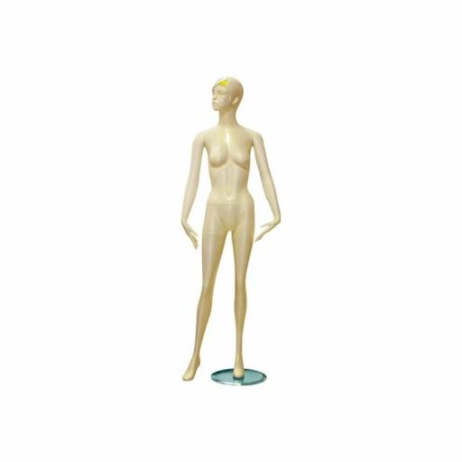 Maniquí de mujer en color blanco. Con rasgos