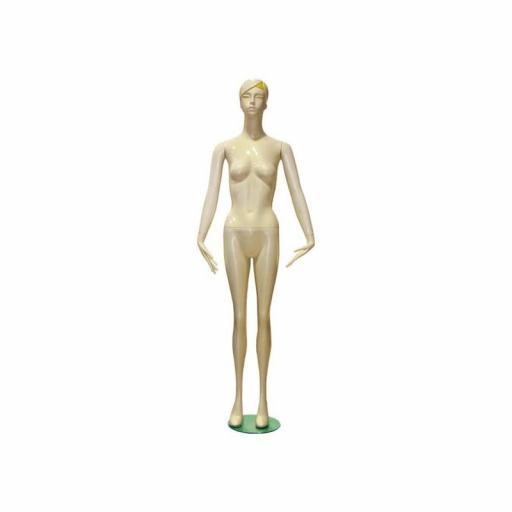 Maniquí de mujer en color blanco. Con rasgos [0]