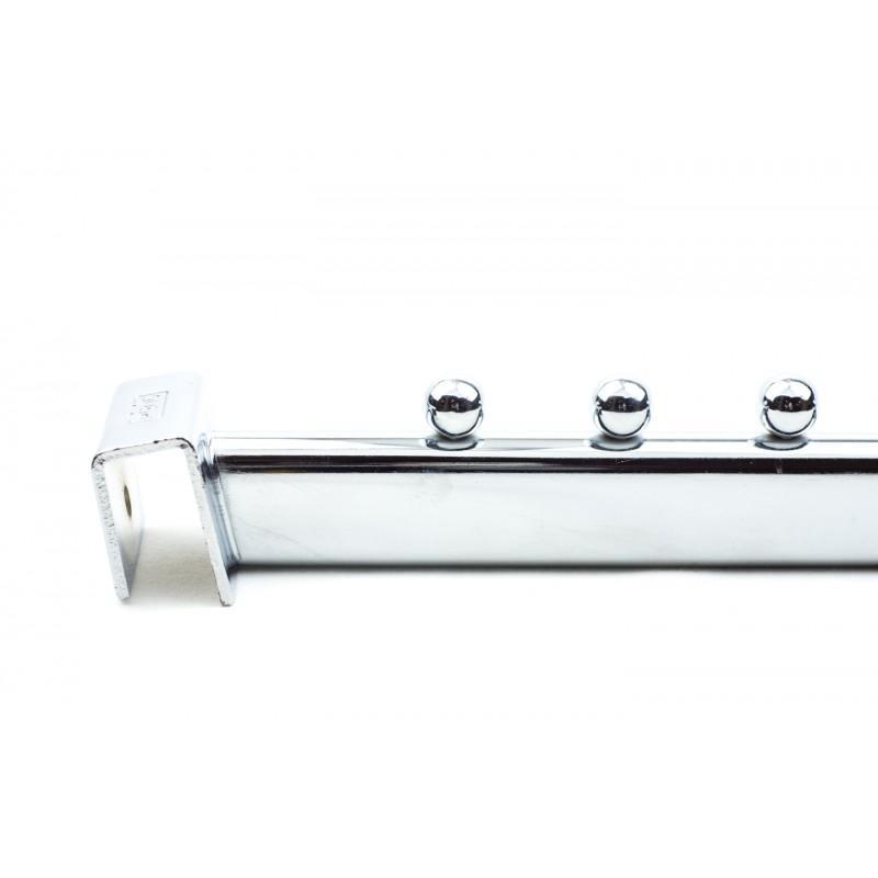 Colgadores inclinados con pivotes para tubo rectangular
