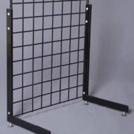 Pies en L a panel de rejilla  doble borde [1]