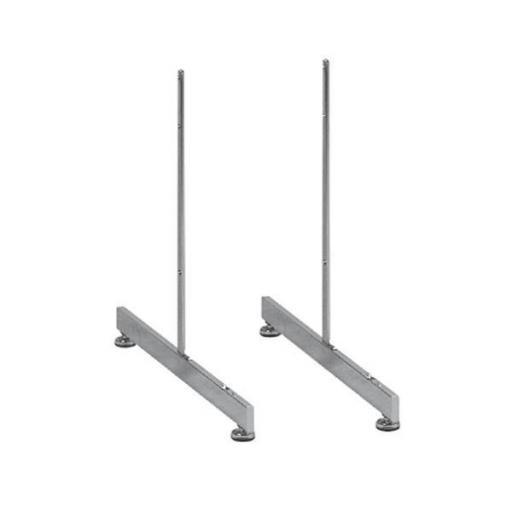 Pies en T a panel de rejilla doble borde [2]