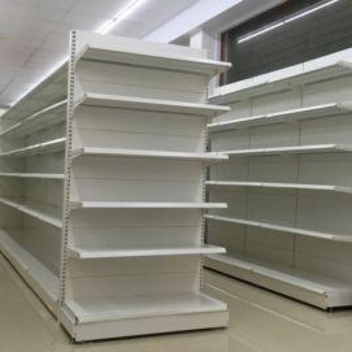 Góndola a pasillos estantería supermercados trasera de chapa lisa [2]