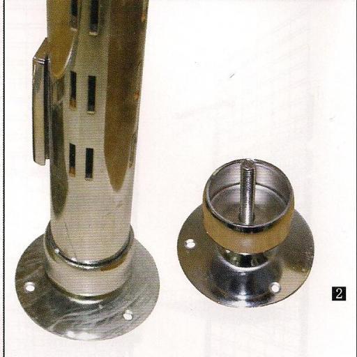 Fijación a suelo y pared de tubo de cremallera [1]