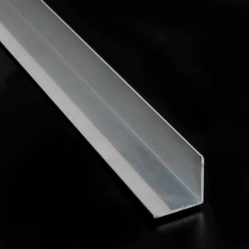 Perfil en L de aluminio.
