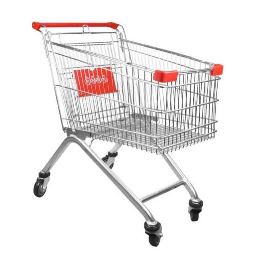 Carro de compra metálico supermercados 60 litros