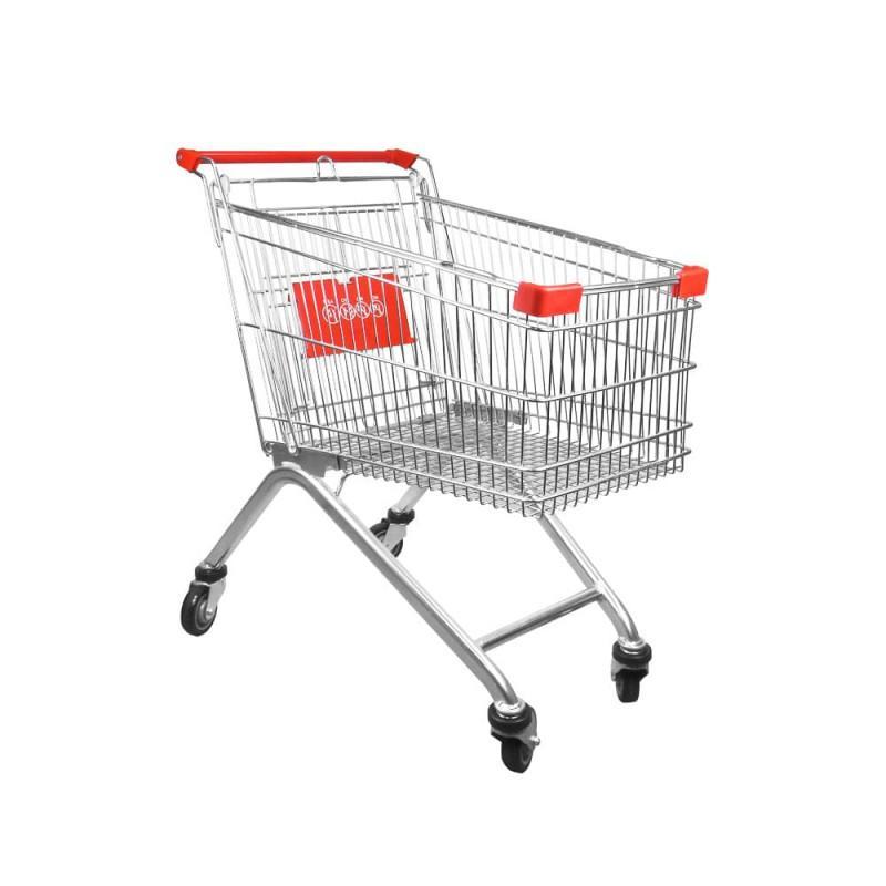 Carro de compra metálico supermercados 100 litros