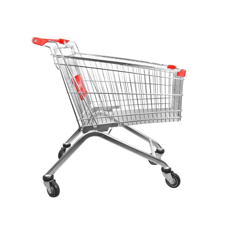 Carro de compra metálico supermercados 180 litros