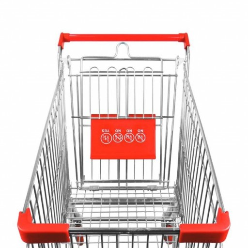 Carro de compra metálico supermercados 60 litros [3]