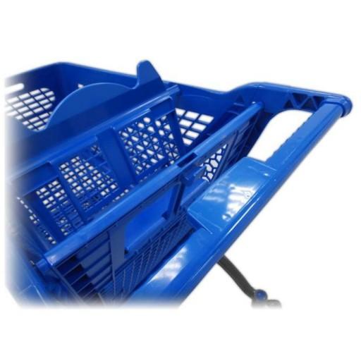 Carro de compra plástico azul supermercados 200 litros [2]