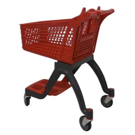 Carro de compra plástico rojo supermercados 120 litros [1]