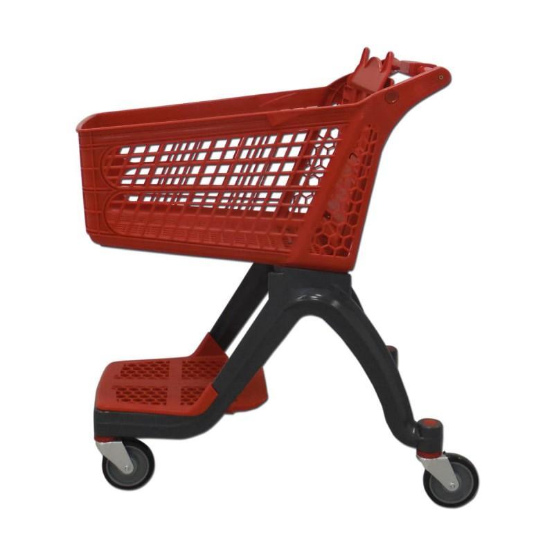 Carro de compra plástico rojo supermercados 120 litros
