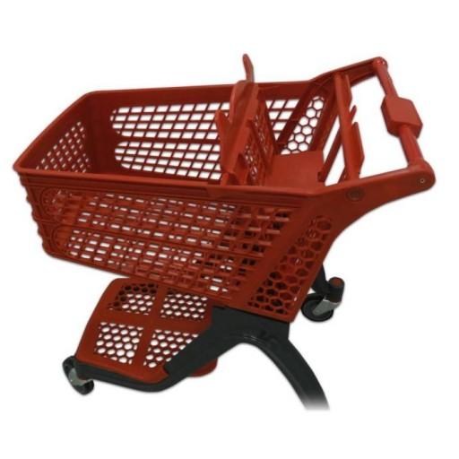 Carro de compra plástico rojo supermercados 120 litros [2]