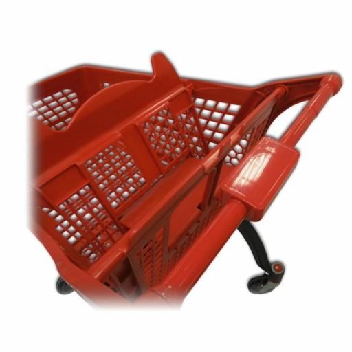 Carro de compra plástico rojo supermercados 120 litros [3]