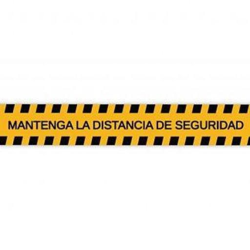 Adhesivo de vinilo distancia de seguridad
