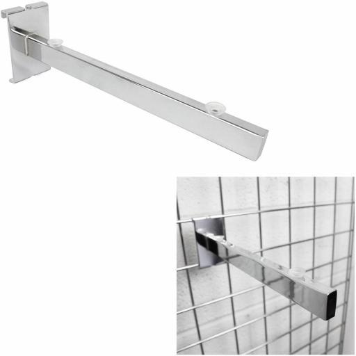 Colgadores Colgadores con ventosa con tope final a panel de rejilla [1]