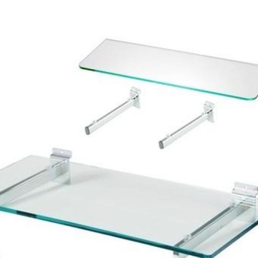 Baldas de cristal templado a panel de lamas