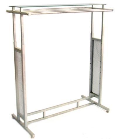 Perchero barras laterales y cristal