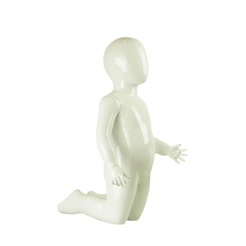 Maniquí niño blanco, 4-6 años arrodillado