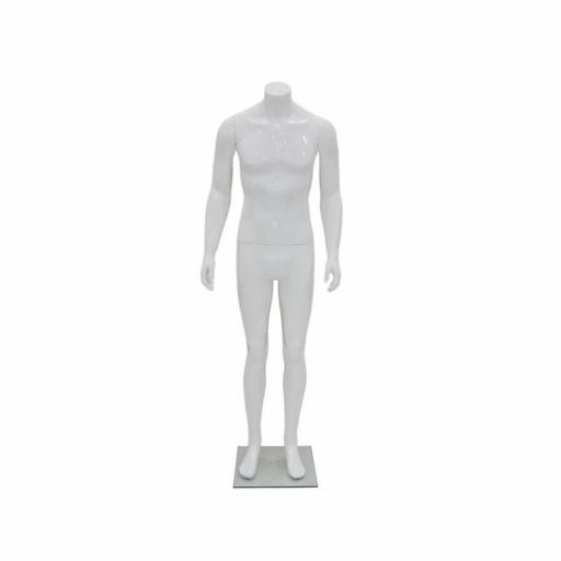 Maniquí hombre de fibra sin rostro, color blanco sin cabeza [1]