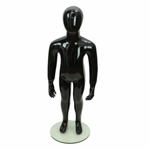 Maniquí niño color negro, 4 años