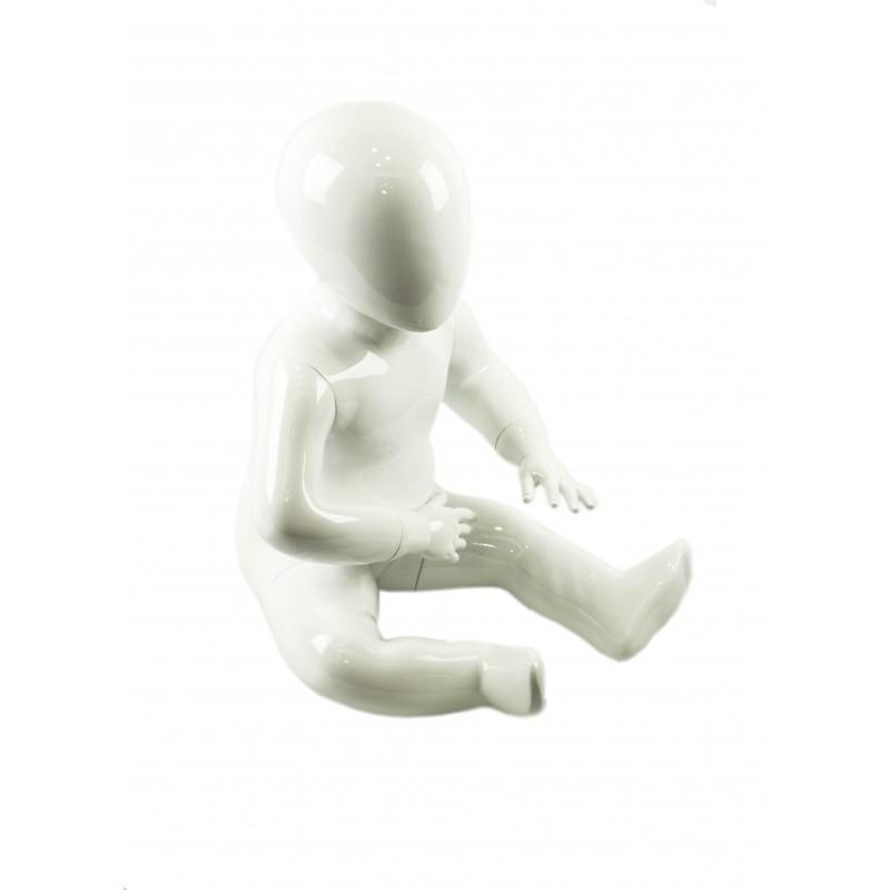 Maniquí niña color blanco, 1-2 años