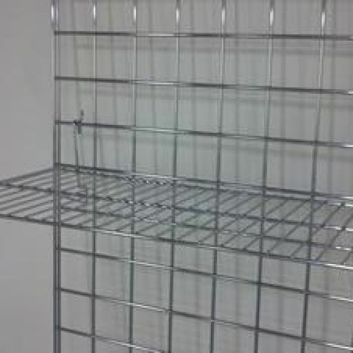 Paneles de rejillas cromadas a pared [3]